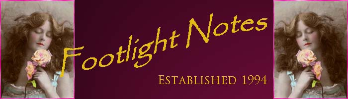 Footlight Notes banner with Doris Stocker